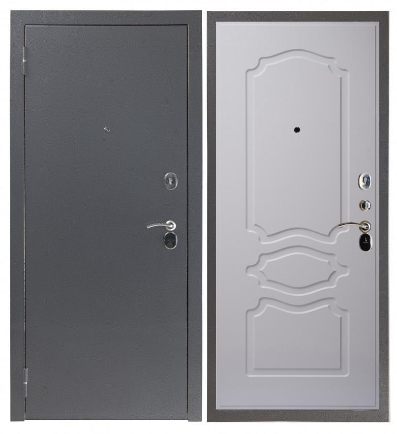 Входная дверь Sidoorov S 80 3к Антик серебро / Женева Люкс Ясень белый
