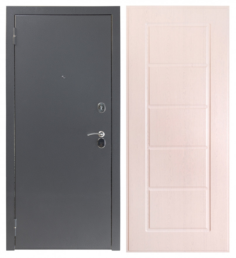 Дверь Sidoorov S 80 Антик серебро / Ника Беленый дуб