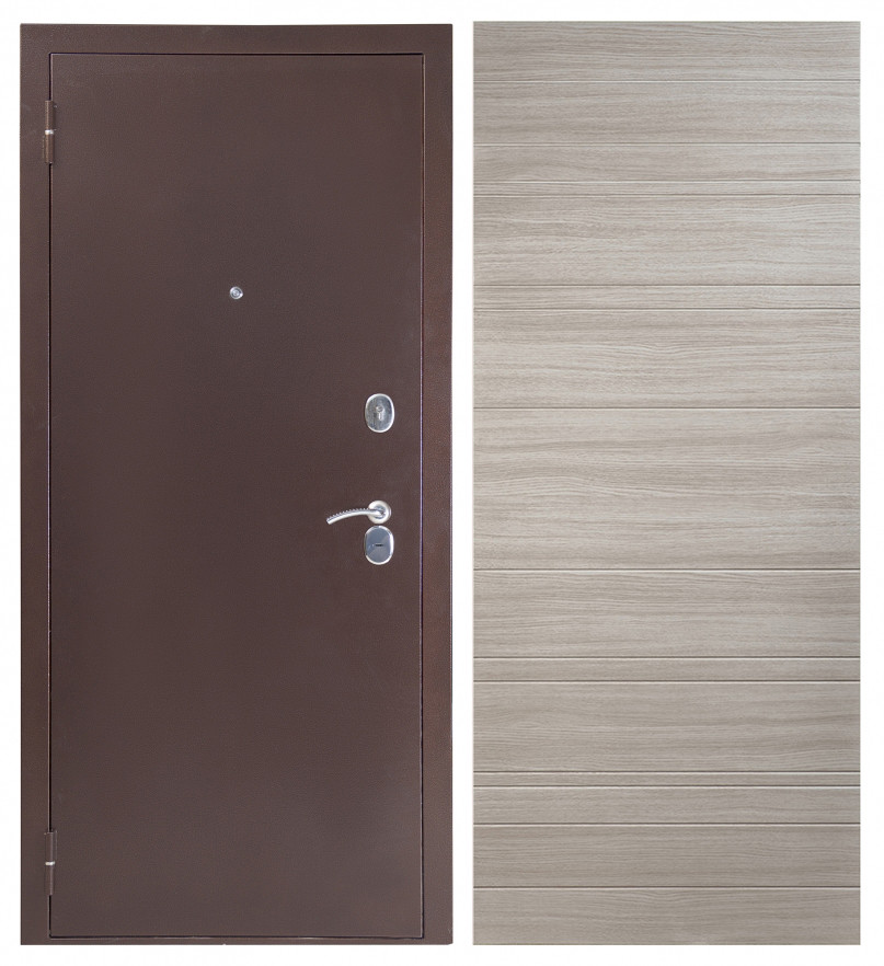Дверь Sidoorov S 80 Антик медь / Акация светлая горизонт