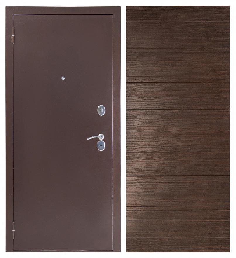 Дверь Sidoorov S 80 Антик медь / Венге горизонт