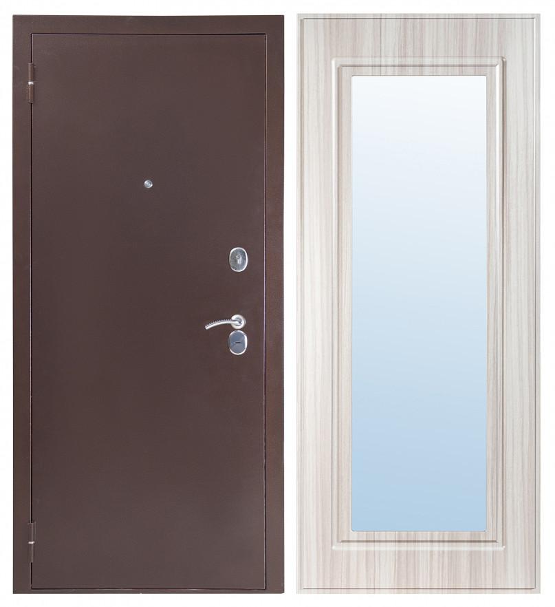 Дверь Sidoorov S 80 Антик медь / Зеркало Макси Сандал белый