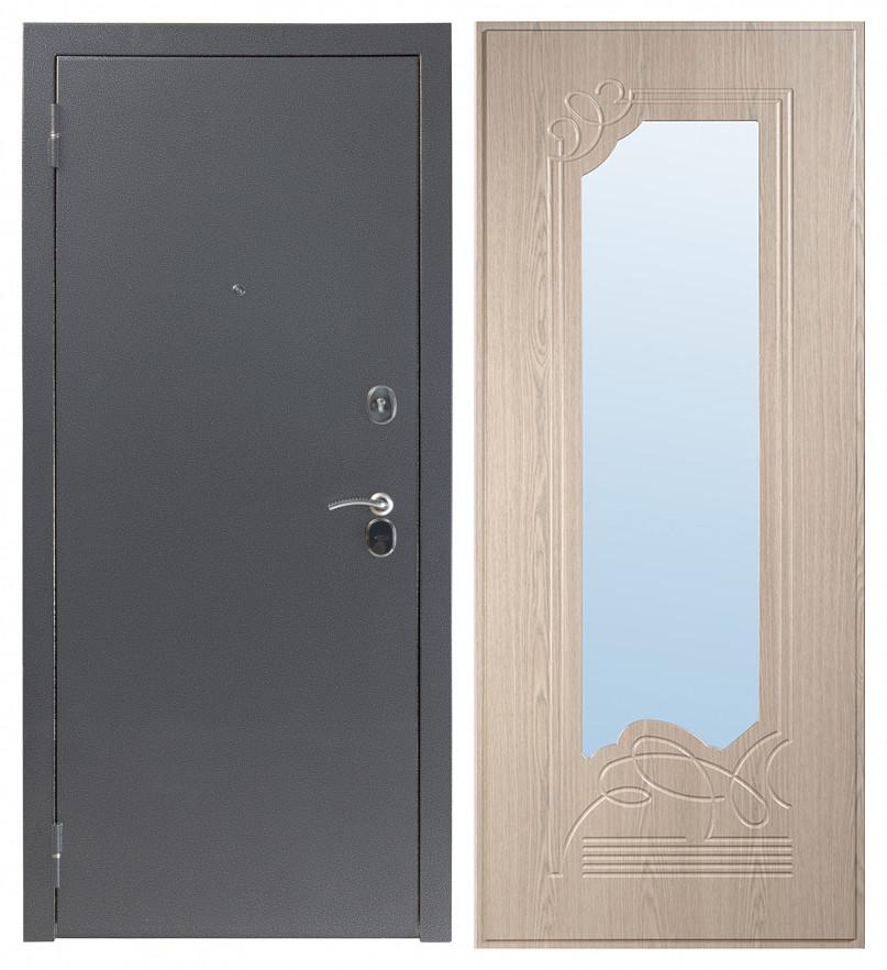 Входная дверь Sidoorov S 80 Антик серебро / Ольга Беленый дуб