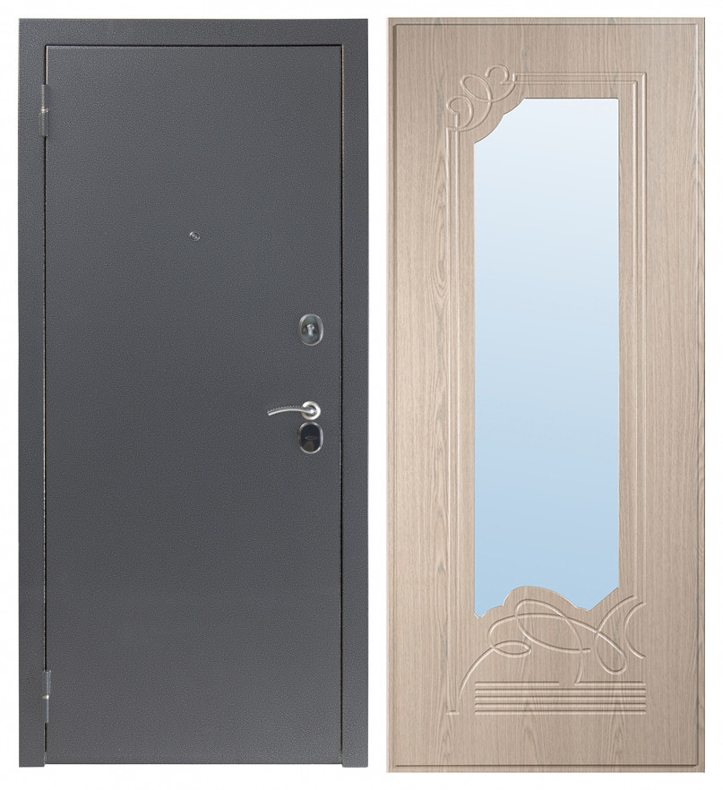 Дверь Sidoorov S 80 Антик серебро / Ольга Беленый дуб