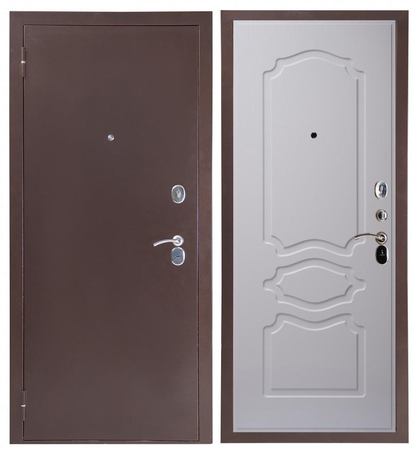 Дверь Sidoorov S 80 Антик медь / Женева Люкс Ясень белый