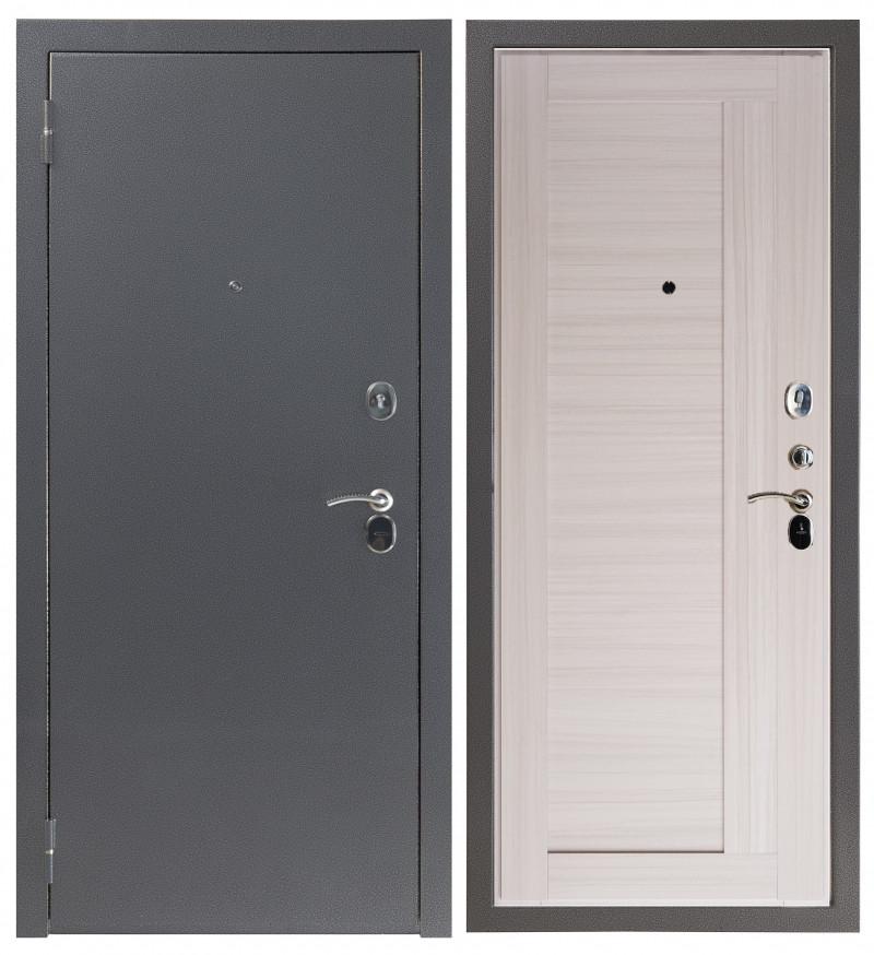 Входная дверь Sidoorov S 80 Антик серебро / Альпы Молочный дуб