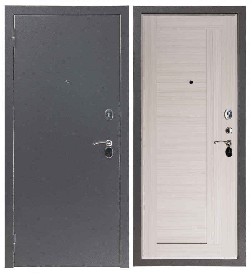 Дверь Sidoorov S 80 Антик серебро / Альпы Молочный дуб