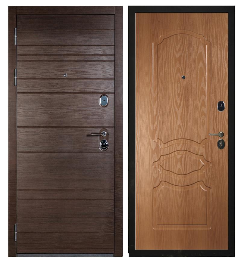 Входная дверь Sidoorov S 67 Венге поперечный / Женева Миланский орех