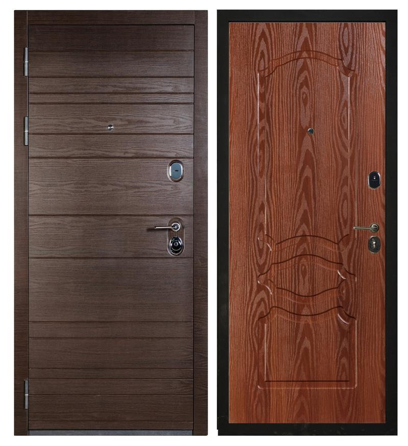 Входная дверь Sidoorov S 67 Венге поперечный / Женева Итальянский орех