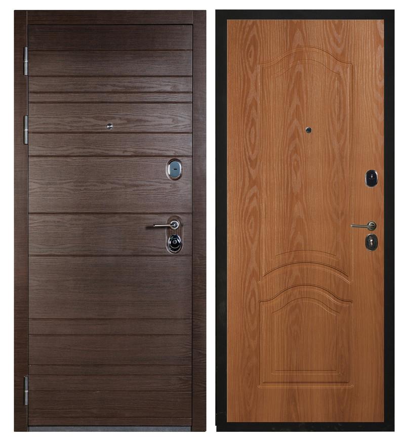 Сейф-дверь Sidoorov S 67 Венге поперечный / Элегия Миланский орех