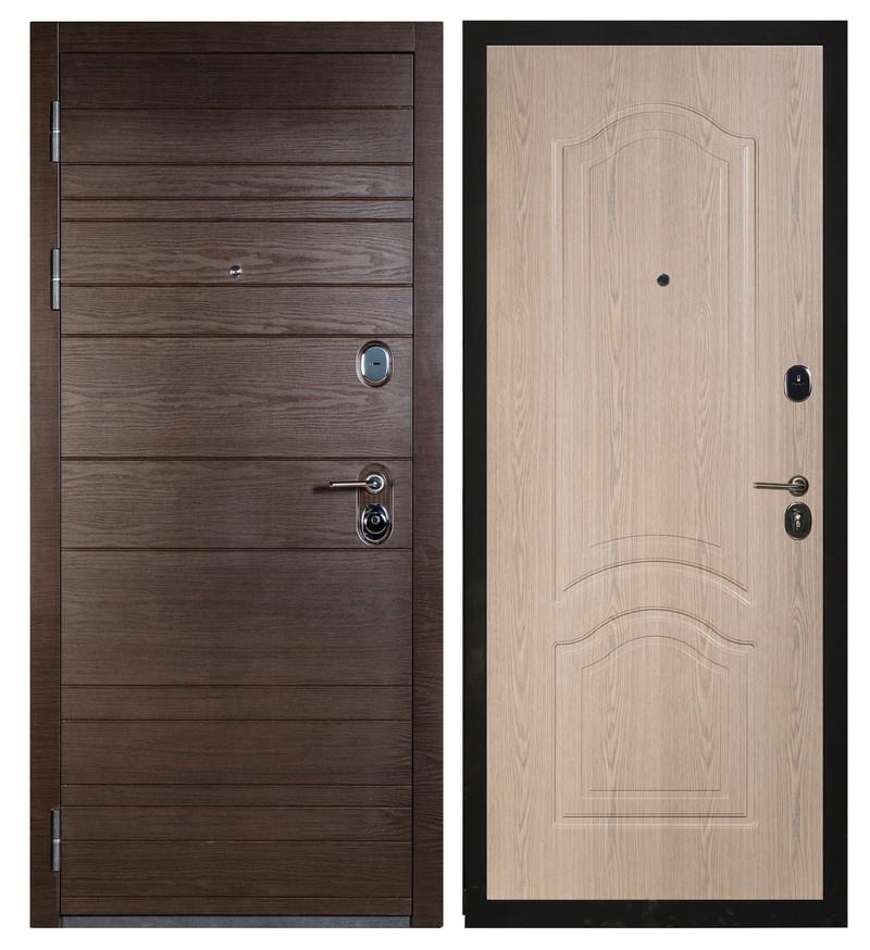 Сейф-дверь Sidoorov S 67 Венге поперечный / Элегия Беленый дуб