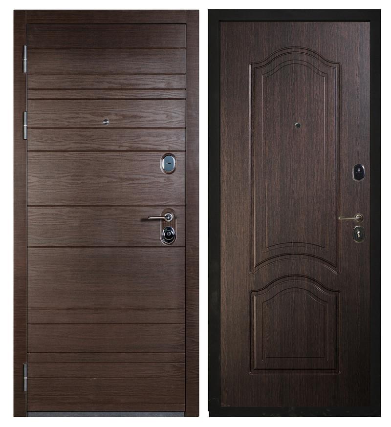 Сейф-дверь Sidoorov S 67 Венге поперечный / Элегия Венге