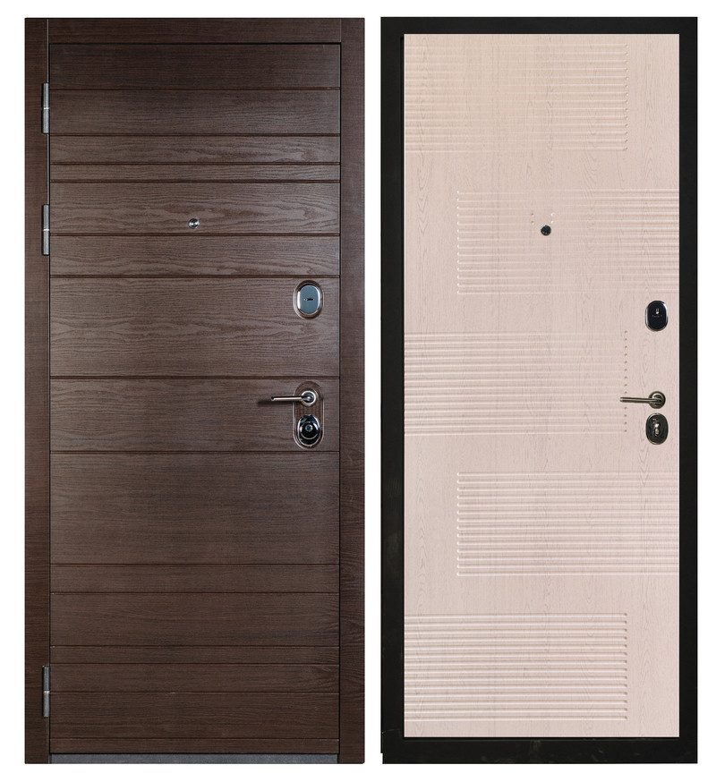 Сейф-дверь Sidoorov S 67 Венге поперечный / Спарта Беленый дуб