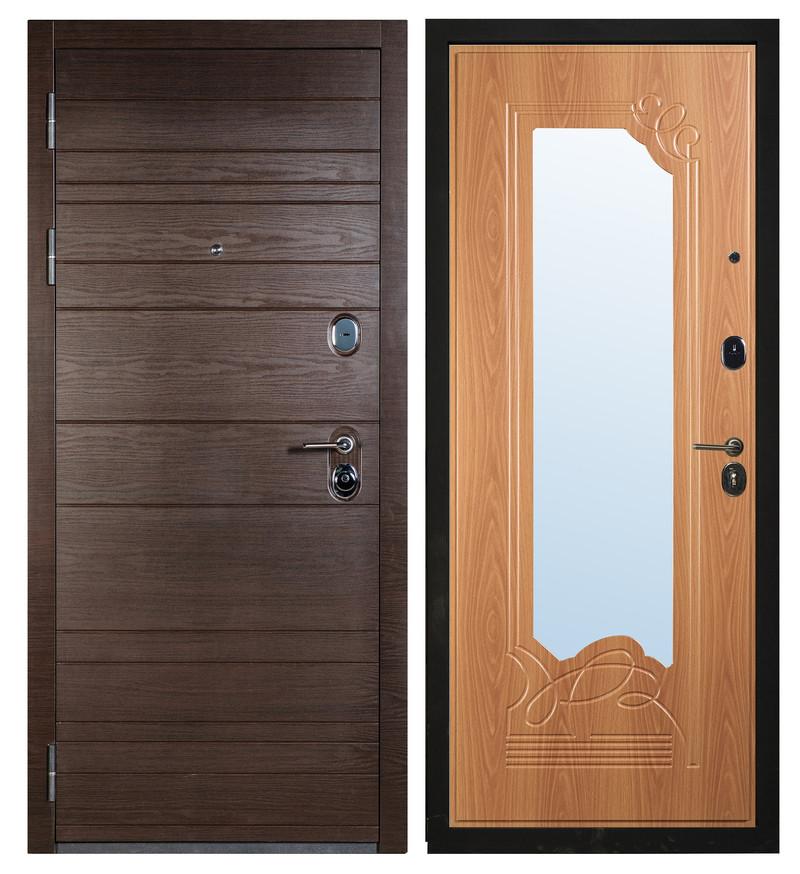 Входная дверь Sidoorov S 67 Венге поперечный / Ольга Миланский орех