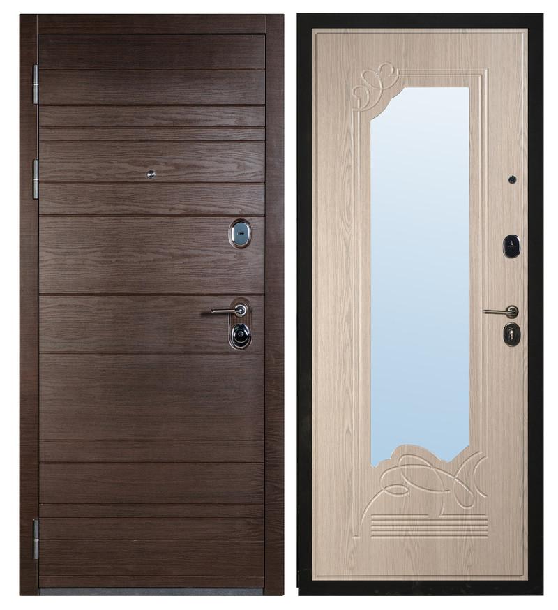 Входная дверь Sidoorov S 67 Венге поперечный / Ольга Беленый дуб