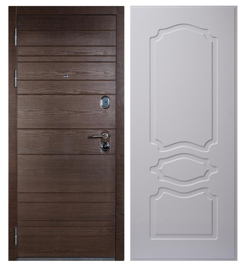 Входная дверь Sidoorov S 67 Венге поперечный / Женева Люкс Ясень белый