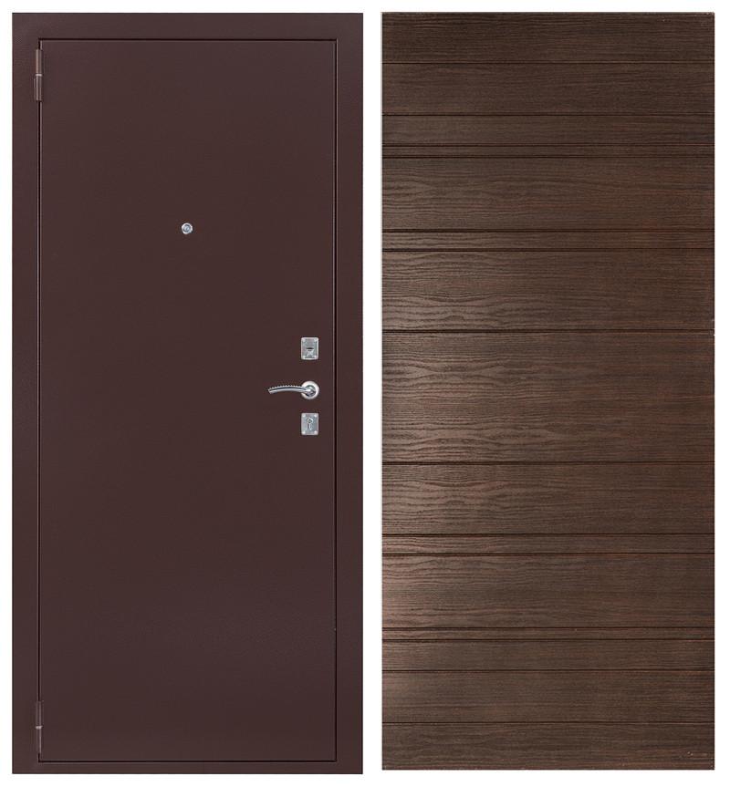 Сейф-дверь Sidoorov S 67 Антик медь / Венге горизонт