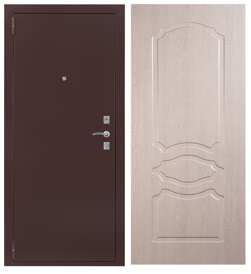Дверь Sidoorov S 67 Антик медь / Женева Беленый дуб
