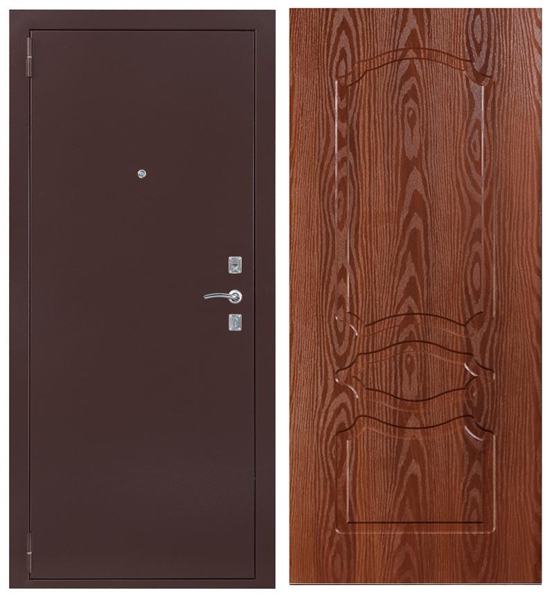 Дверь Sidoorov S 67 Антик медь / Женева Итальянский орех