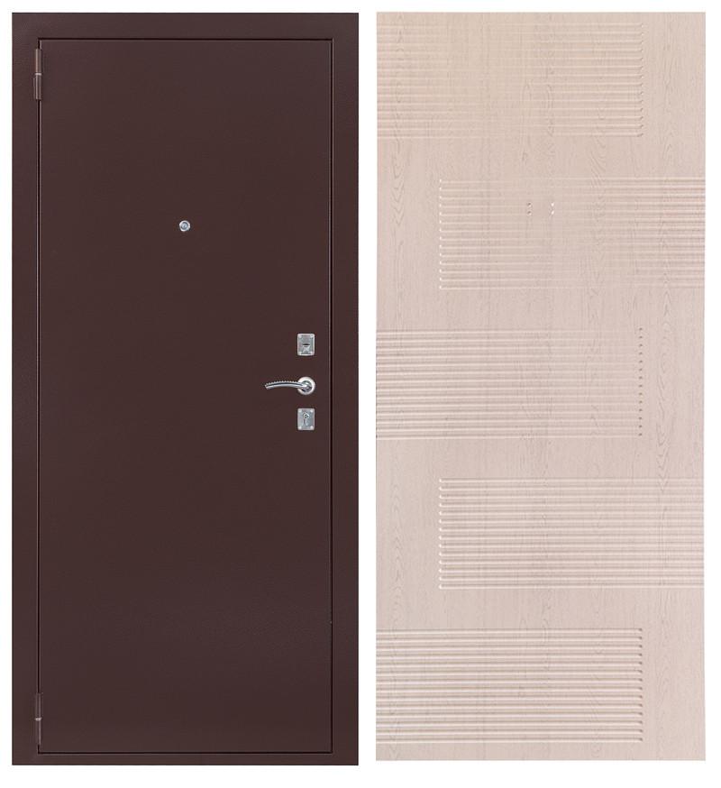 Дверь Sidoorov S 67 Антик медь / Спарта Беленый дуб