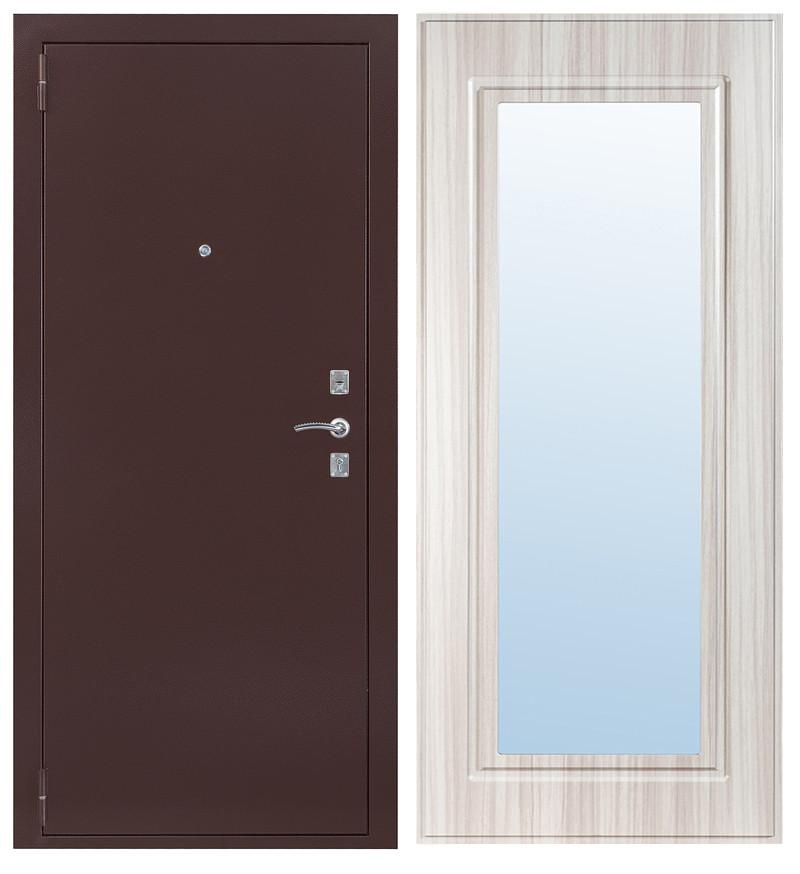 Дверь Sidoorov S 67 Антик медь / Зеркало макси Сандал белый