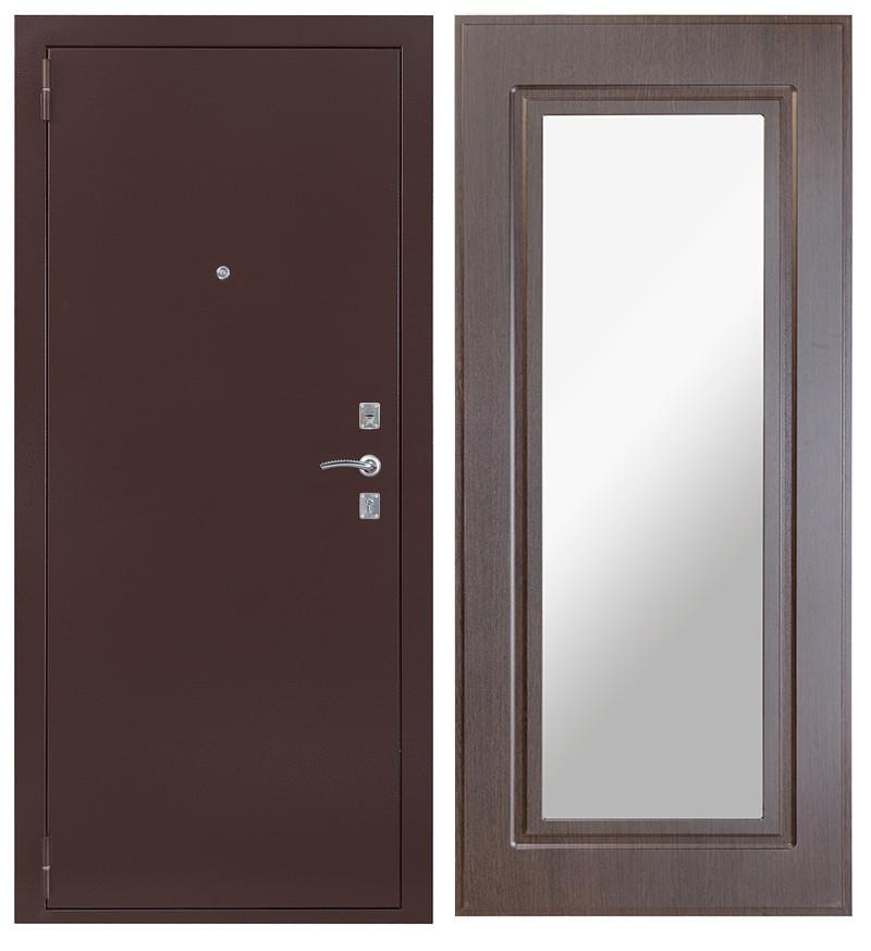 Дверь Sidoorov S 67 Антик медь / Зеркало макси Венге