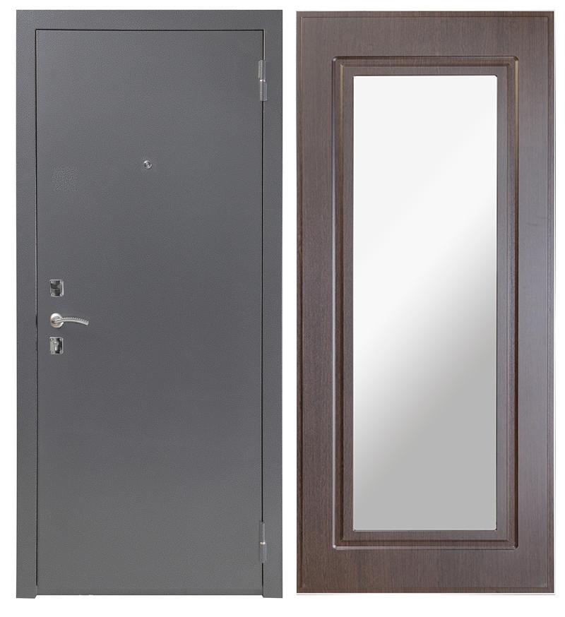 Дверь Sidoorov S 67 Антик серебро / Зеркало макси Венге