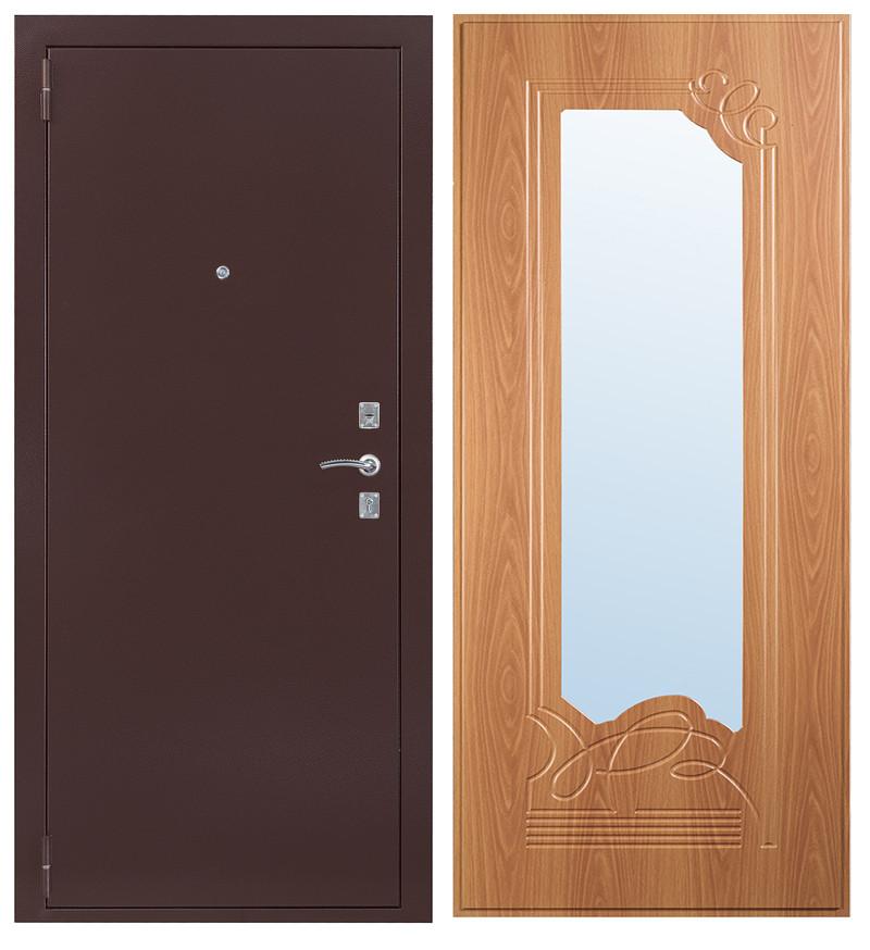 Дверь Sidoorov S 67 Антик медь / Ольга Миланский орех