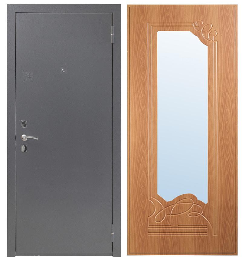 Дверь Sidoorov S 67 Антик серебро / Ольга Миланский орех