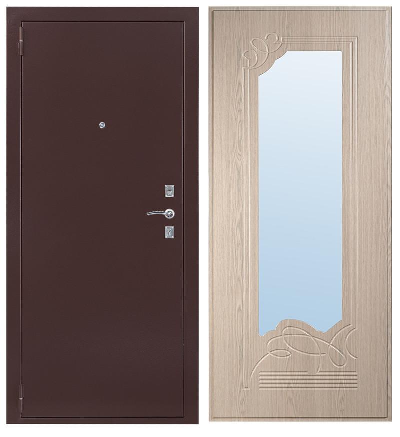 Дверь Sidoorov S 67 Антик медь / Ольга Беленый дуб