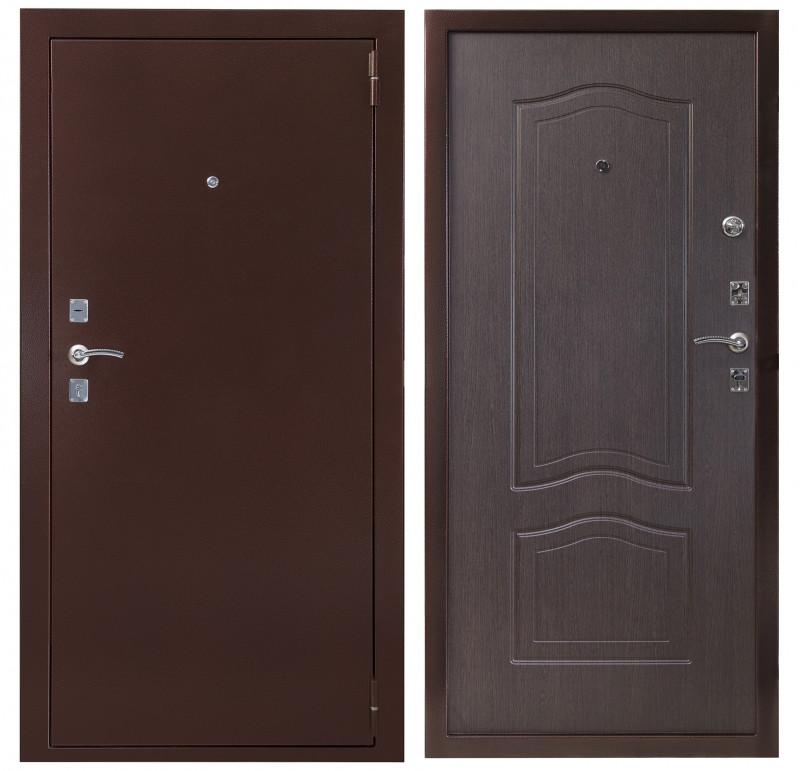 Дверь Sidoorov S 67 мини Антик медь / Венге
