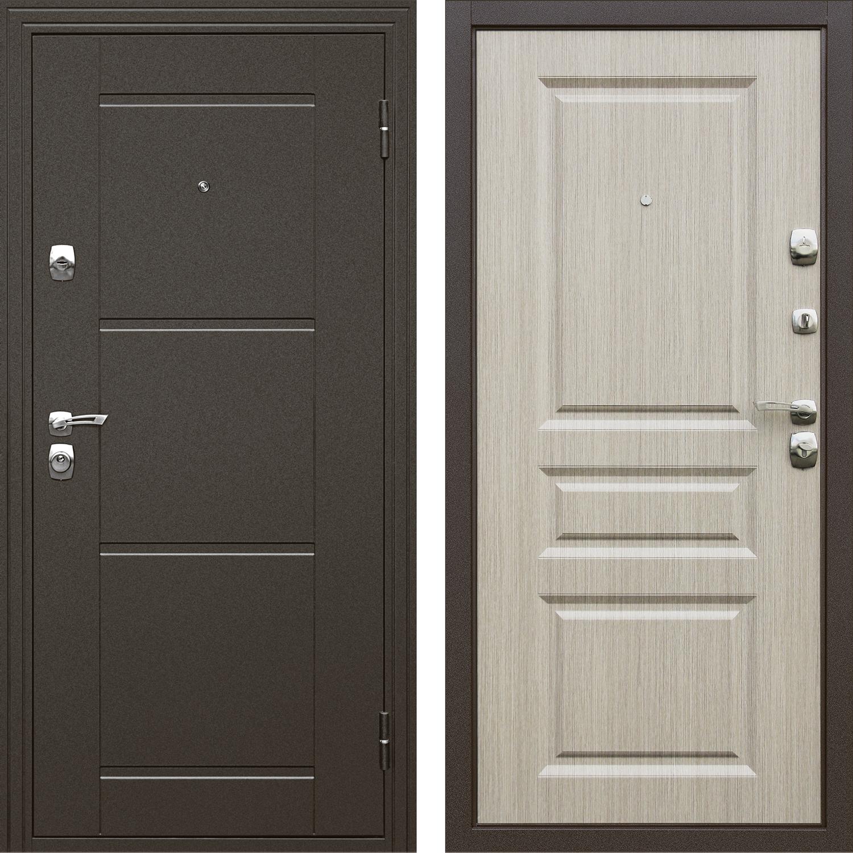 Сейф-дверь Дверной Континет Эстет Дуб светлый