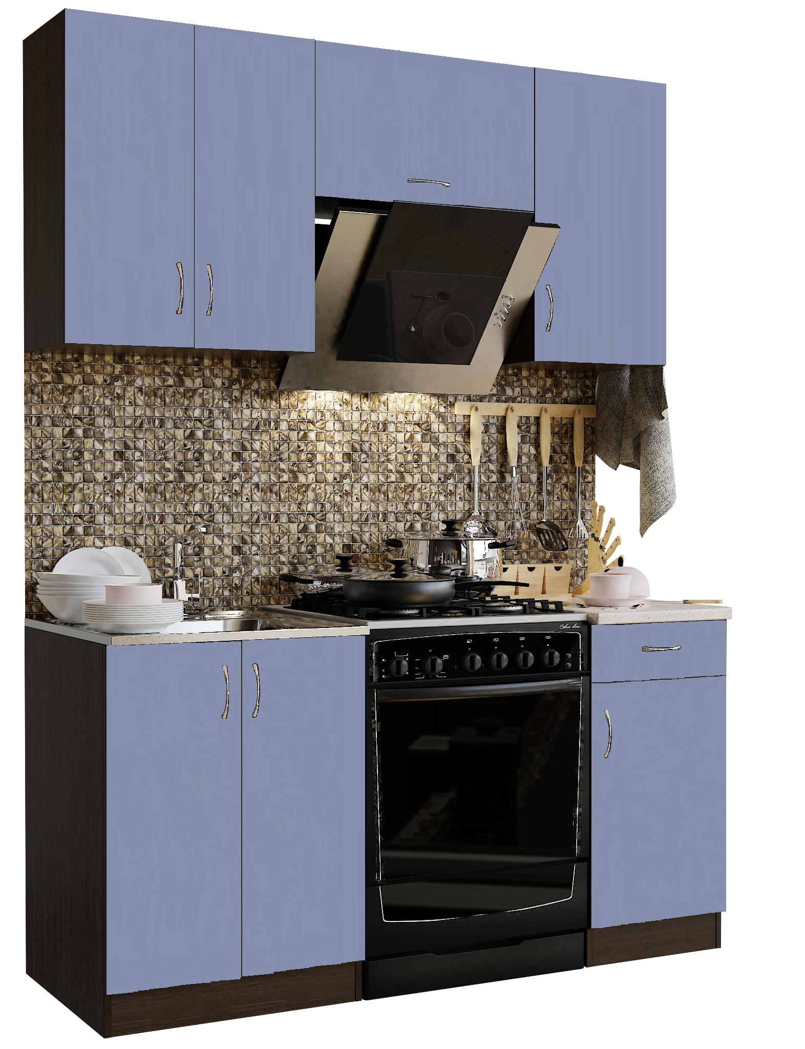 Кухонный гарнитур Sanvut ГК1600-3.9.2 Венге / Лаванда