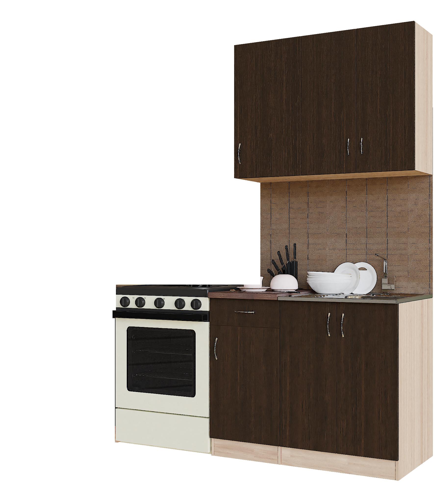 Кухонный гарнитур Sanvut ГК1000-1.3.1 Венге / Шимо светлый (венге)