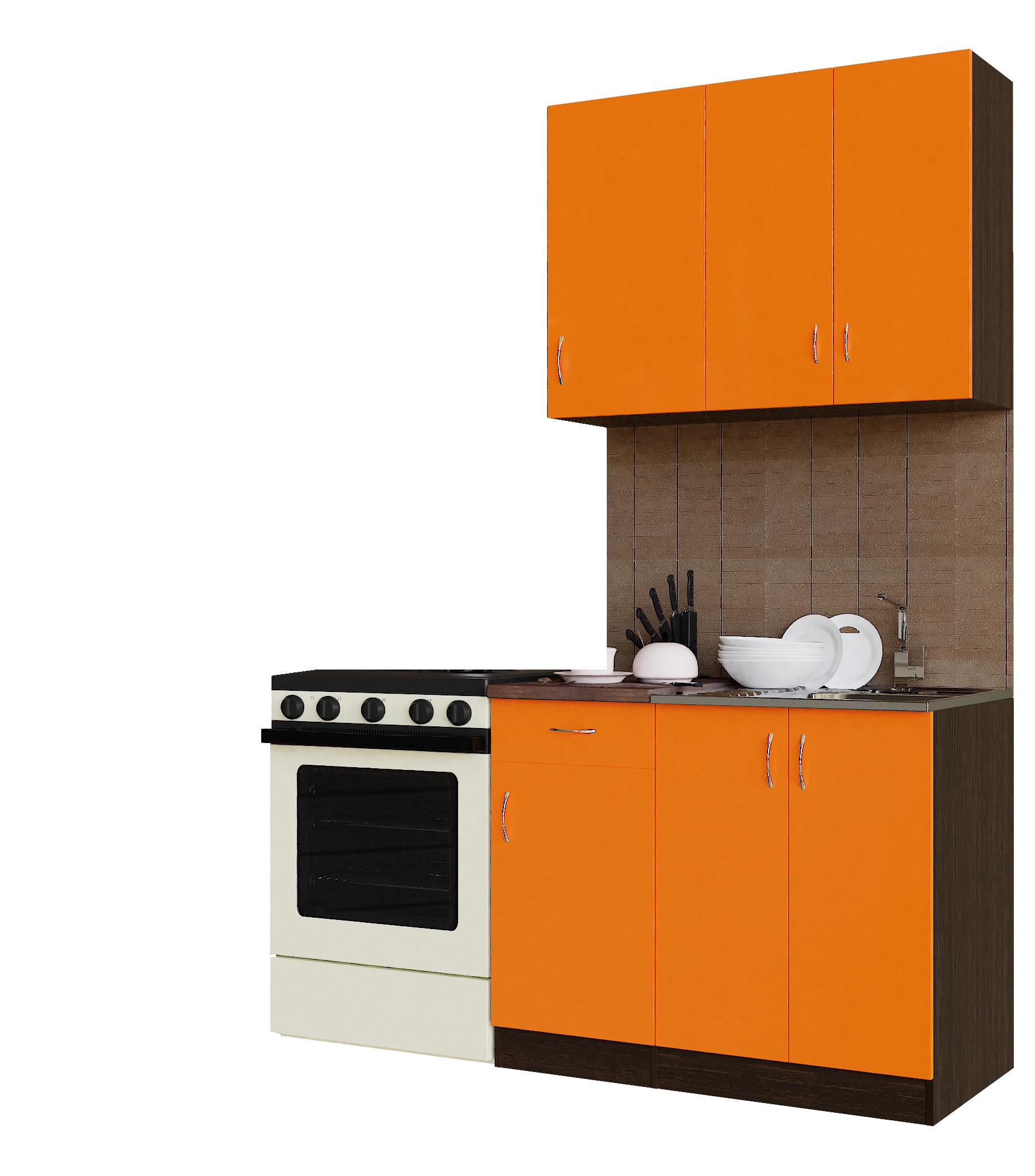 Кухонный гарнитур Sanvut ГК1000-3.13.1 Венге / Оранж (венге)
