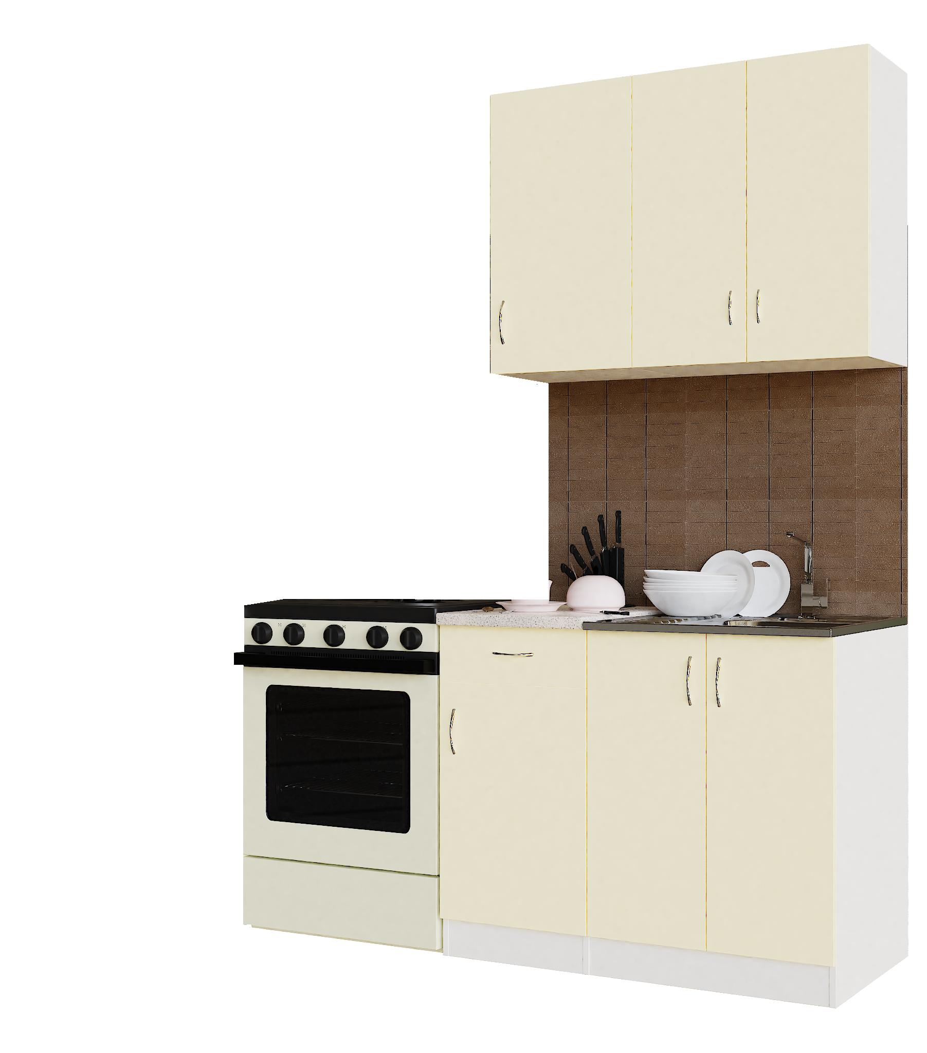 Кухонный гарнитур Sanvut ГК1000-5.6.2 Белый / Крем (гренобль)