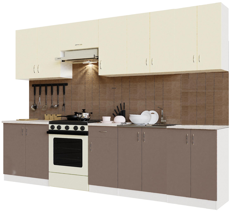 Кухонный гарнитур Sanvut ГК3000-5.6_12.2 Белый / Крем / Мокко (гренобль)