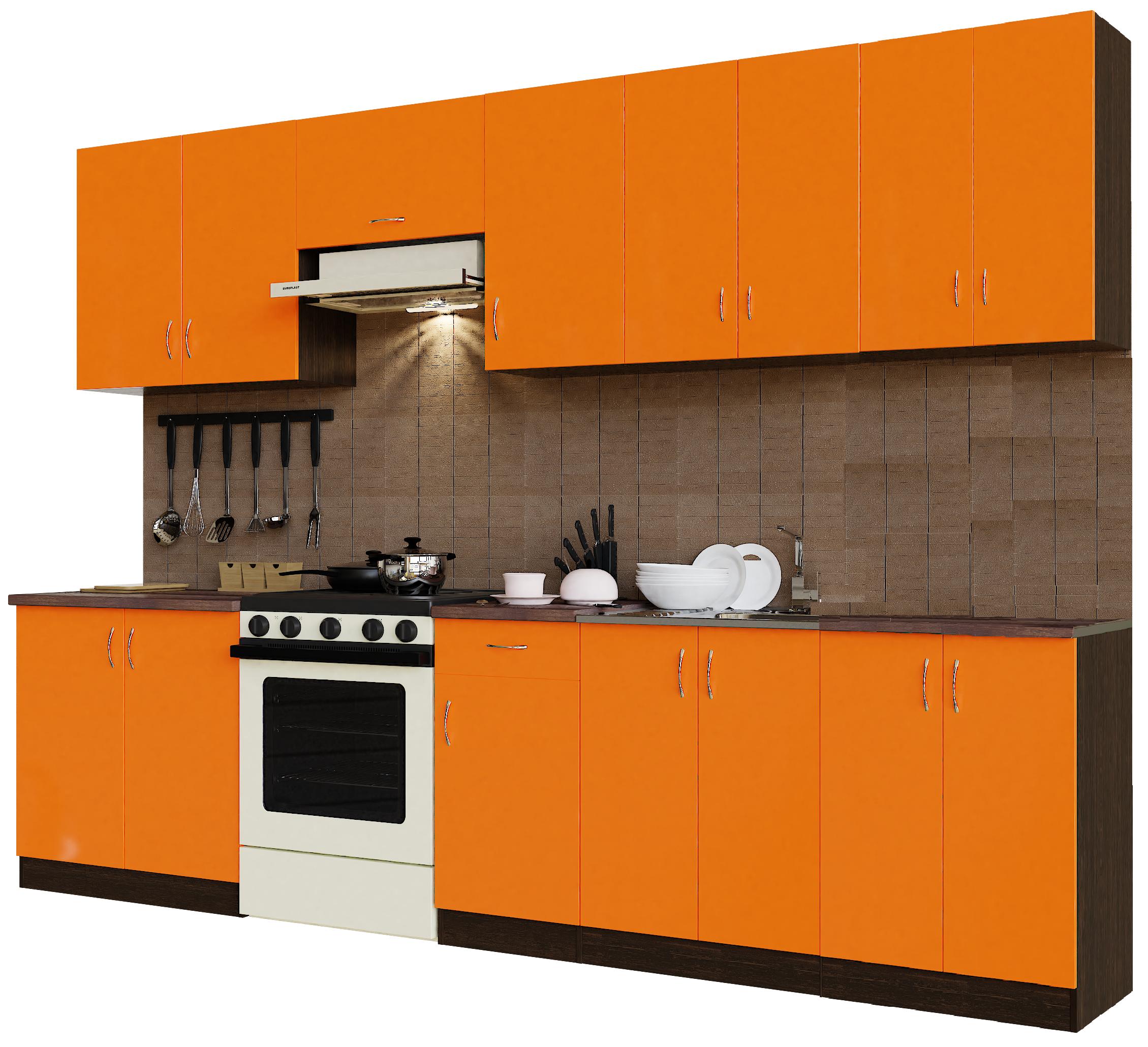 Кухонный гарнитур Sanvut ГК3000-3.13.1 Венге / Оранж (венге)