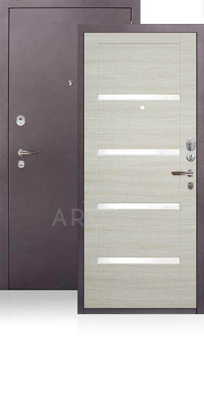 Сейф-дверь Аргус ДА-11 Антик капучино / Светлый горизонт / стекло Изабель