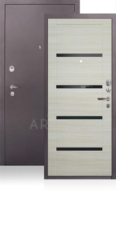 Дверь Аргус ДА-11 Антик капучино / Светлый горизонт / стекло Кензо