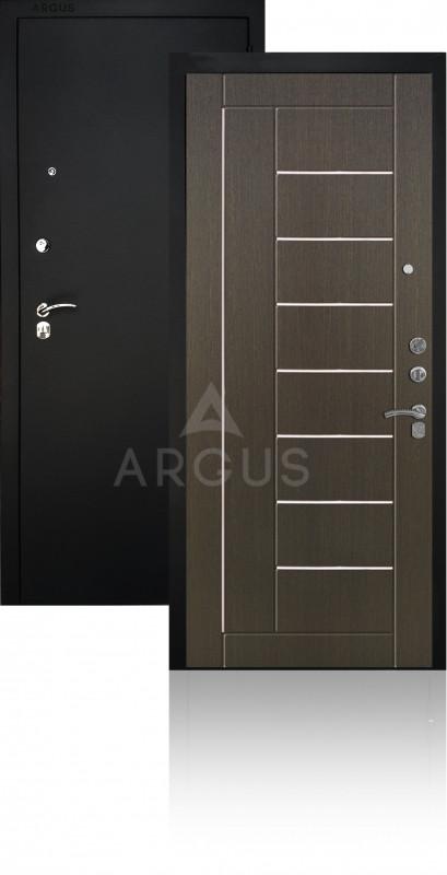 Сейф-дверь Аргус ДА-33 Фриза Черный муар / Венге