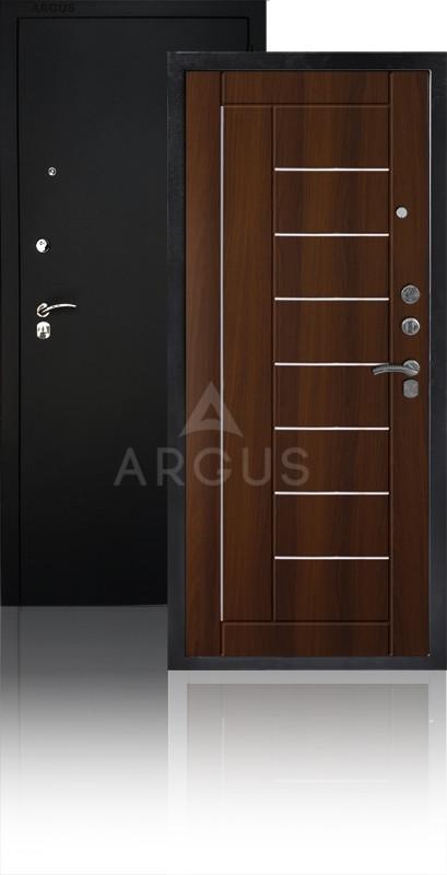 Сейф-дверь Аргус ДА-33 Фриза Черный муар / Коньяк-статус