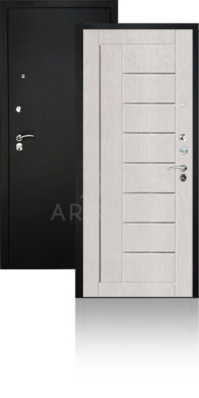 Сейф-дверь Аргус ДА-33 Фриза Черный муар / Ларче светлый