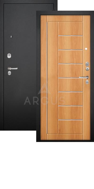 Сейф-дверь Аргус ДА-33 Фриза Черный муар / Орех миланский