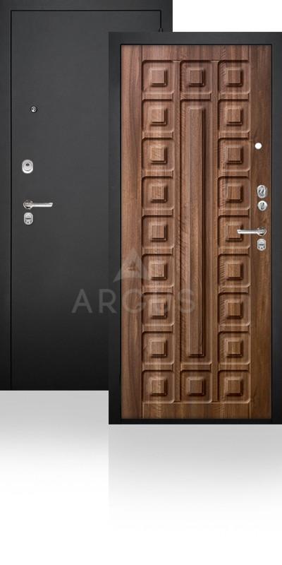 Сейф-дверь Аргус ДА-34 Сенатор Черный муар / Орех седой светлый