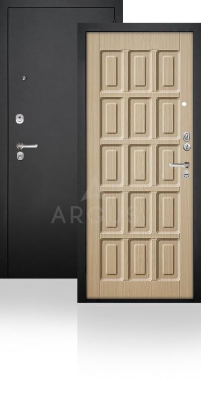 Сейф-дверь Аргус ДА-34 Шоколад Черный муар / Венге светлый