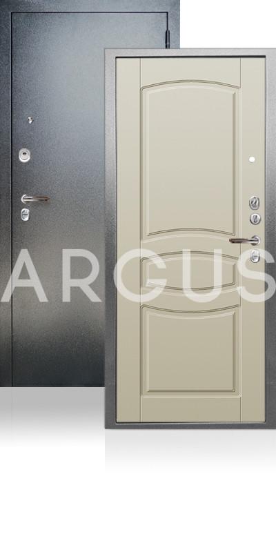 Входная дверь Аргус ДА-64 Монако Антик серебро / Белый шелк