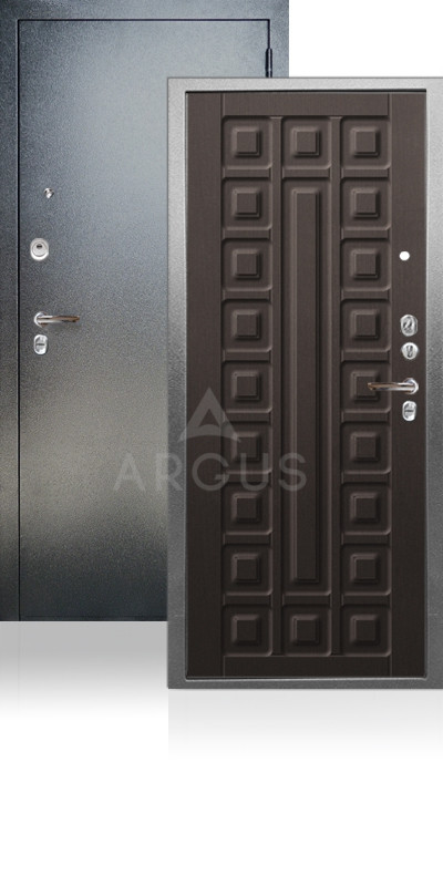 Входная дверь Аргус ДА-64 Сенатор Антик серебро / Венге структурный кофе