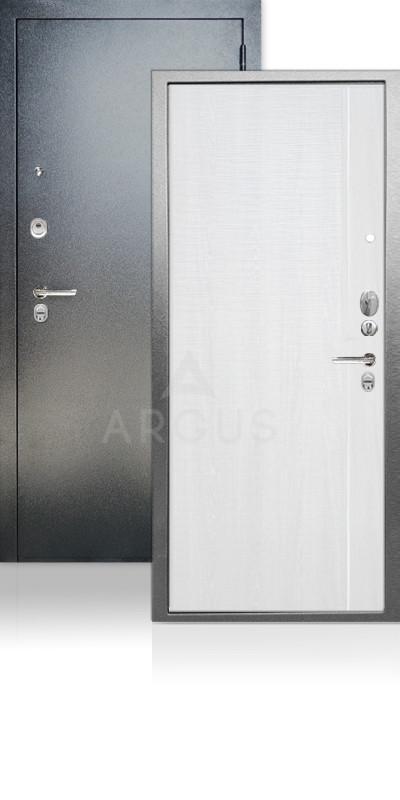 Входная дверь Аргус ДА-65 Гауда Антик серебро / Белый ясень