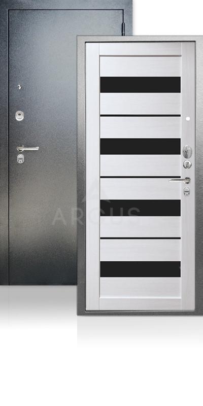 Входная дверь Аргус ДА-67 Милана Антик серебро / Лиственница белая