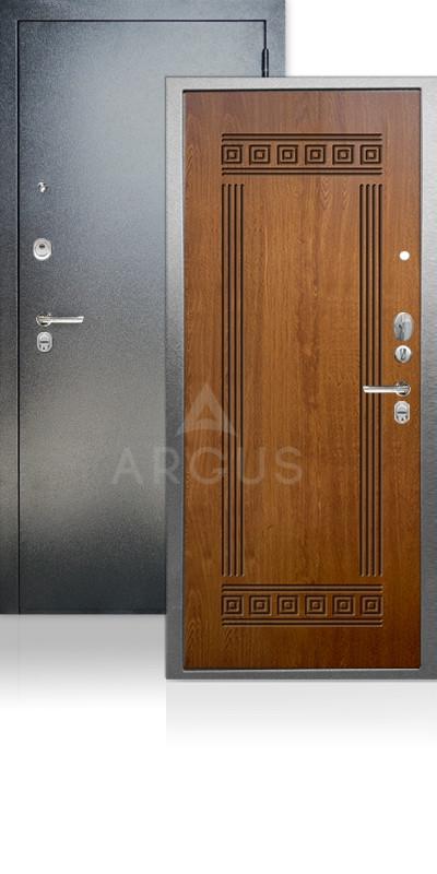 Входная дверь Аргус ДА-68 Петра Антик серебро / Дуб золотой
